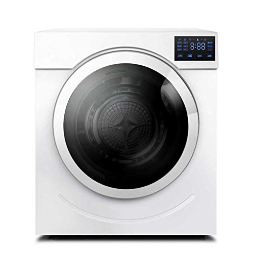 Lapden Freestanding Heat Pump Tumble Dryer, 6kg Load Clothes Dryer w/Stainless Steel Tub, Easy Button Control, Ideal for Home, Apartment, Dorm, RVs