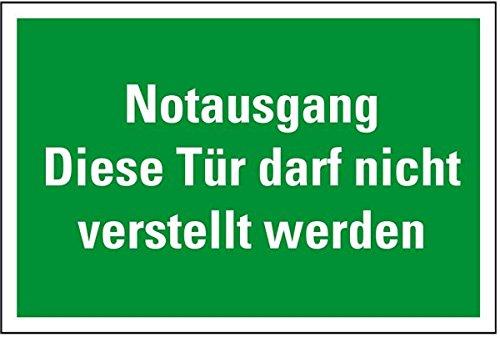 LEMAX® Rettungszeichen Notausgang Tür darf nicht verstellt...,praxisb.,Folie,300x200mm