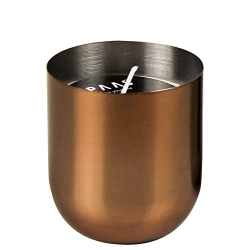 Spaas geurkaars in metalen beker, paraffinewas, brons, T 67 x H 73 mm