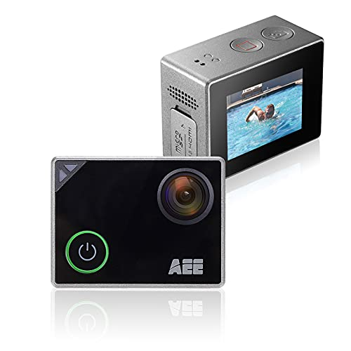 AEE Silver 4K WiFi Sports Action Camera, Ultra HD 133 Feet Waterproof DV Camcorder with Touch Screen, 16MP Image Resolution, 4X Digital Zoom with Degree Wide Angle Lens