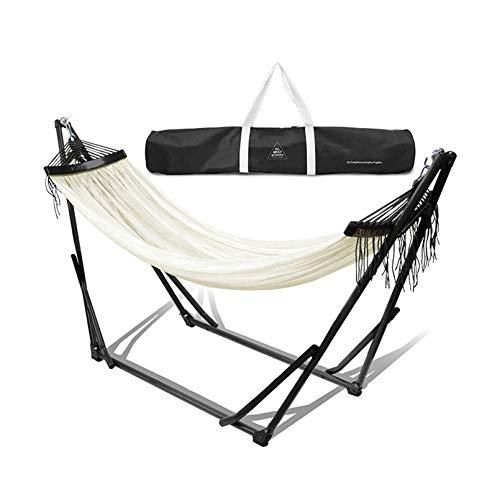 Hamaca 2 en 1 y silla oscilante con soporte plegable para interior o exterior | Capacidad máxima de carga: 100 kg