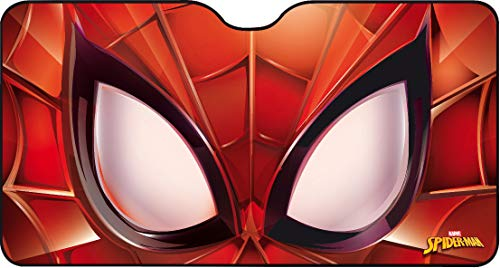parasole auto 80 x 150 Marvel Spiderman Front Parasole Anteriore Parabrezza Auto SUV 150x80 cm Spiderman Uomo Ragno Supereroe