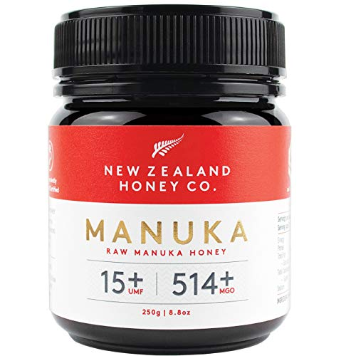 New Zealand Honey Co. Raw Manuka Honey UMF 15+ | MGO 514+, 8.8oz / 250g