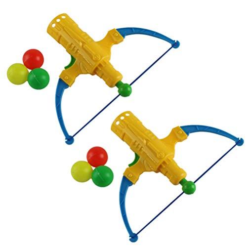 TOYANDONA 2 Juegos de Tiro con Arco Arco Y Flecha Juguetes de Tenis de Mesa Juguetes de Tiro con Arco de Plástico para Niños Actividades Al Aire Libre para Niños (Color Aleatorio)