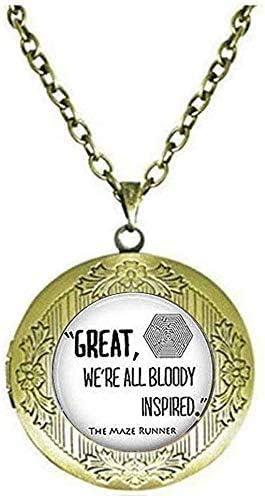 The Maze Locket Necklace Jewelry Vintage Jewelry Art Picture Jewelry