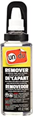 """Un-du safely Remover """"on Contact"""" Any and all self sticking stickers, tapes, labels and adhesives Un-du will not leave behind any oily or greasy stains After safely removing stickers and you can re-stick the sticker Un-du is the only """"patented"""" All i..."""