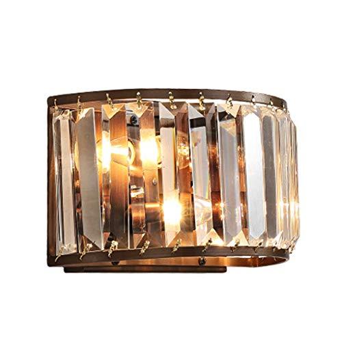 Moderne wandlamp van gebogen glas, glas, wandlamp, modern, kristal, wand, slaapkamer, hal, woonkamer, lamphouder, E14-fitting niet inbegrepen.