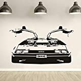 Applikation Zurück in die Zukunft Delorean DMC Vinyl Wandkunst Aufkleber Remvable Schlafzimmer Auto Aufkleber wohnzimmer Dekoration W X cm
