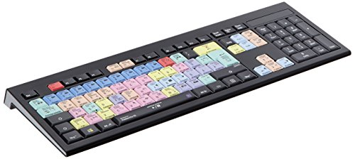 LogicKeyboard LKB-PPROCC-APBH-DE Adobe Premiere Pro CC Astra deutsches (PC/Slim) Tastatur schwarz/bunt