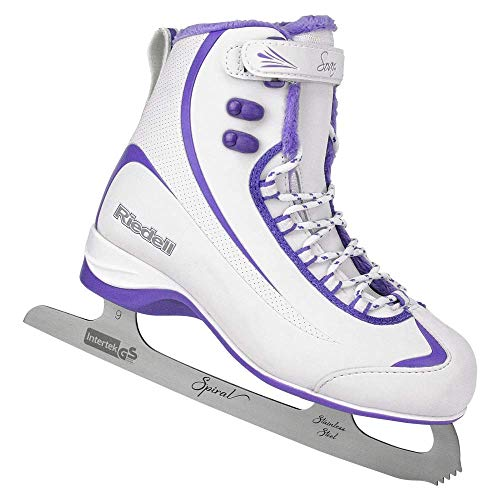 Riedell Skates - 625 Soar - Damen Soft Beginner Figure Ice Skates, Damen, Weiß & Violett, UK 7 / EU 40