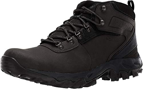 Columbia Men's Newton Ridge Plus II Waterproof Hiking Boot-Wide, Black, Black, 9 Regular US