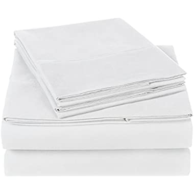 Pinzon 300 Thread Count Organic Cotton Sheet Set - King, White