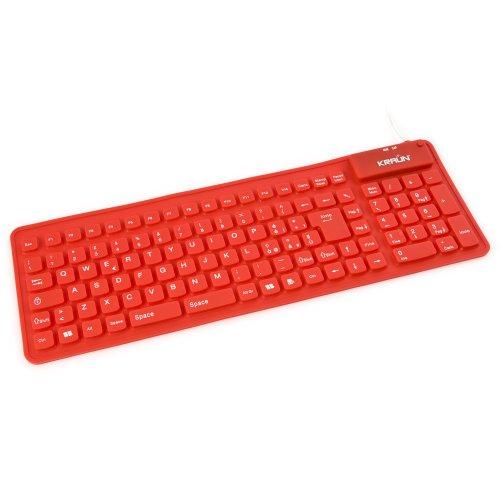 Kraun Tastiera Flex Rubber (Red)