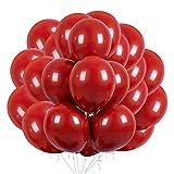 50 Piezas de decoración de globos rojo para el día de San Valentín boda aniversario compromiso cumpleaños jardín empresa celebración graduación fiesta de graduación decoración romántica