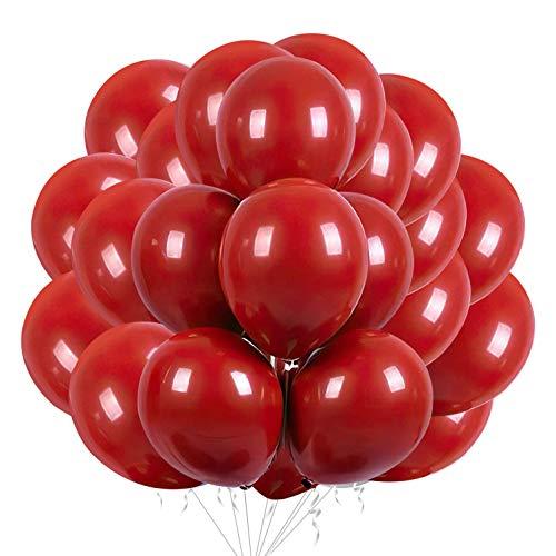 50 Stück Rot Luftballons Rot Latexballons zum Valentinstag Hochzeitstag Verlobung Geburtstag Garden Company Feier...