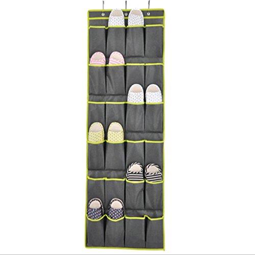 GYMNLJY grille 24 chaussure rangement sac non-tissé multicouche Guadai Wall-dimensions pochette mur porte placard suspendu stockage Bag(pack of 2) , gray