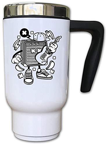 Iprints Cartoon gestileerde versterker gitaar muziek liefhebber thermische thee koffie mok
