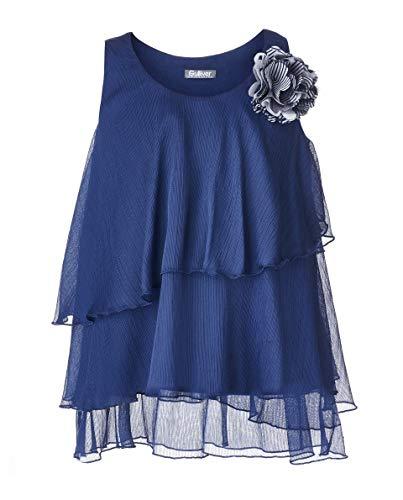 GULLIVER Mouwloze Blouse Meisjes Blouse Blauw Loose Fit met Bloemen Patch 8-13 Jaar 134-164 cm