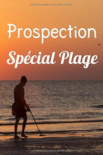 Prospection Spécial Plage: Journal de prospection | Détection de métaux | Pour les passionnés d'Histoire, de trouvaille, de pièces | Carnet pratique avec fiches, 121 pages, 6 x 9 pouces |