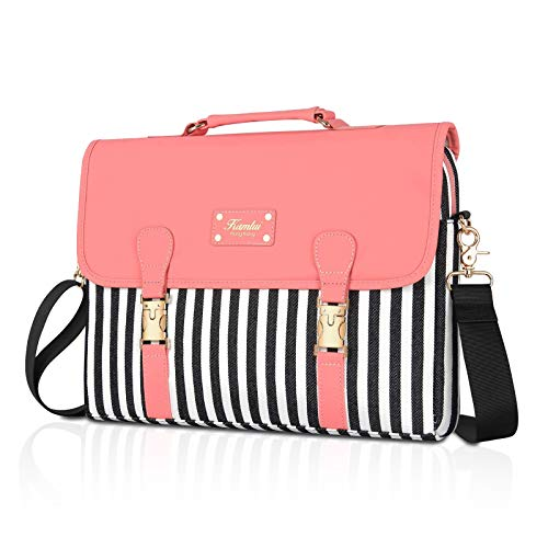 Kamlui Laptop Bag 15.6 Inch - for Women Cute Computer Laptop Sleeve Case for Shoulder Messenger,Macbook Pro Air,Pink