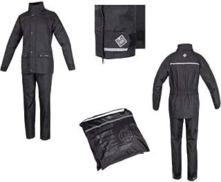 Moto Imperméable Noir Combinaison de Pluie sur Veste /& Pantalon Set pour Moto
