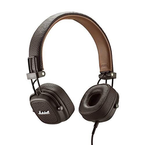 Marshall Major III Auriculares Plegables con Cable, Marrón