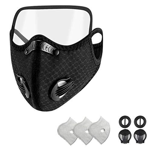 Humeng Atmungsaktiver Mund-Unisex-Schutz mit abnehmbarem Augenschutz Made in Germany