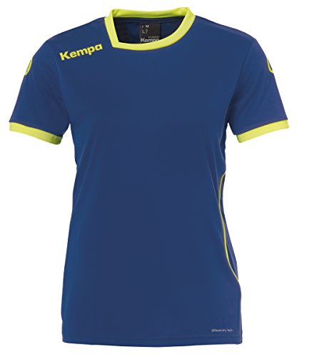 Kempa Damen Curve Trikot, deep blau/Fluo gelb, XL
