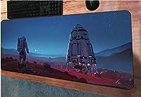 マウスパッドサイファイ宇宙飛行士マウスパッド900x400x3mmゲーミングマウスパッドゲームデスク大型マウスパッドゲーマーコンピューターデスクPCマットノートブックマウスマット-90cmx40cm_(E)