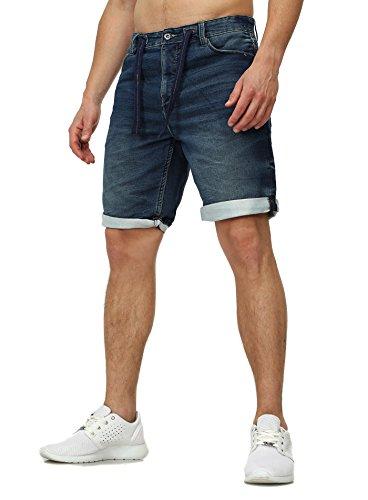 Sweat Jeans Denim Jogger Shorts Sommer Kurze Hose Sublevel 98-86 dunkelblau dunkelblau W32