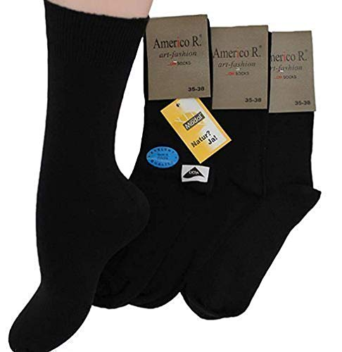 Americo R. Herren Socken Modal 3er Pack Schwarz 43/46