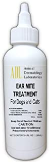 Animal Dermatology Ear Mite Treatment for Dogs and Cats 4 ounces (Labeling May Vary)
