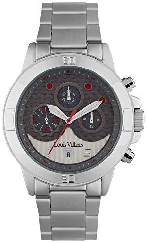 Louis villiers Reloj para Hombre Analógico de Cuarzo con Brazalete de Acero Inoxidable LVP1901