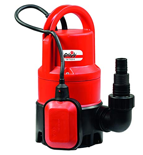 Grizzly vuilwaterpomp, dompelpomp, afvalwaterpomp, drainage Vuilwaterpomp TSP 7525 K 400 Watt rood