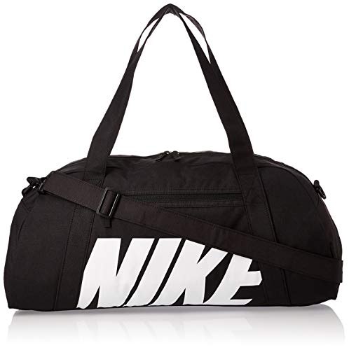Nike W Nk Gym Club Bolsa de Gimnasio para Mujer, Negro (Blanco/Negro), Talla única, Capacidad 30 litros