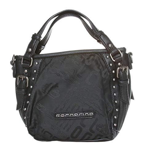 Fornarina TYLER JACQUARD B601N196_00_BLACK Tasche, Bag, Schultertasche
