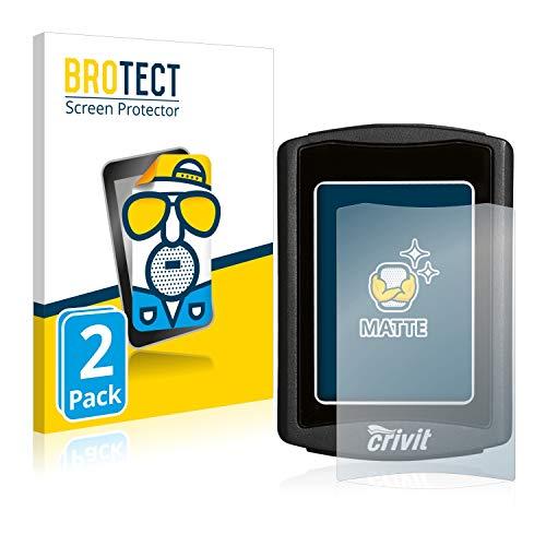 BROTECT 2X Entspiegelungs-Schutzfolie kompatibel mit Crivit Fahrradcomputer Displayschutz-Folie Matt, Anti-Reflex, Anti-Fingerprint