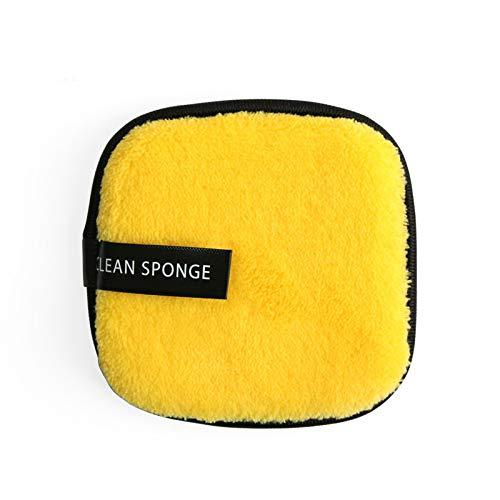 Chiffon de nettoyage pour pinceaux de maquillage carrés magiques réutilisables en microfibre lavable (couleur : jaune)
