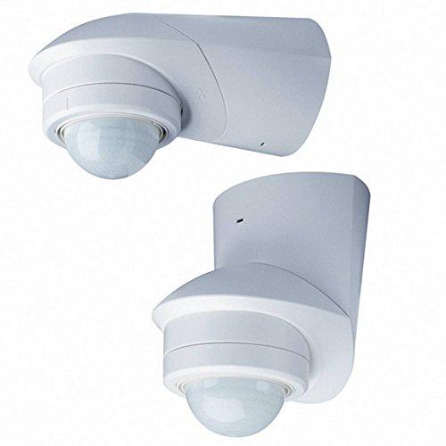 Grothe 94537 Aufputz PIR-Bewegungsmelder 360 ° Relais Weiß IP55
