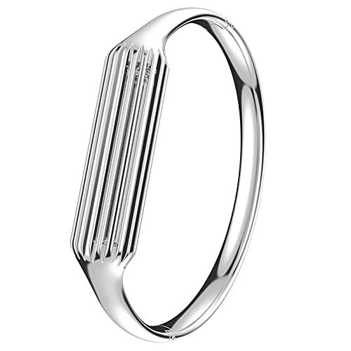 SHYEKYO Pulsera de Metal, Pulsera de Acero Inoxidable Exquisita para Fitbit Flex 2(Silver)