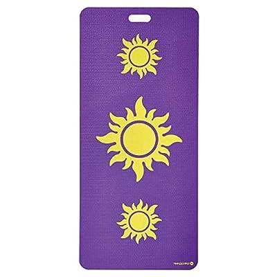 MERRITHEW Kids Yoga and Exercise Mat, Triple Sundog (Purple) 0.15 inch / 4 mm