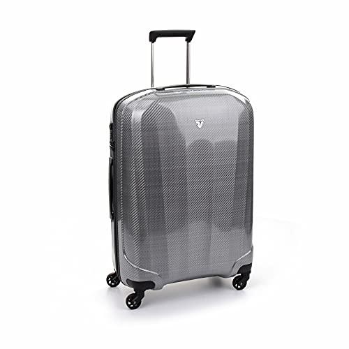 Roncato We-Trendy Maleta Mediana Plata, Medida: 70 x 49 x 28 cm, Capacidad: 90 l, Pesas: 2.4 kg