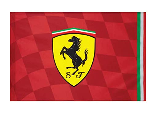 Offizielle Ferrari Flagge Mis.140 x 100 cm. Flag Scuderia Cavallino Rossa BGFER140x100