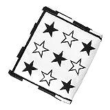 Hellery Paño para bebé recién Nacido, Libro Suave en Blanco y Negro, Juguete de dentición de Papel Arrugado de 0 a 6 Meses para educación temprana de Dibujos - Estrella de Cinco Puntas