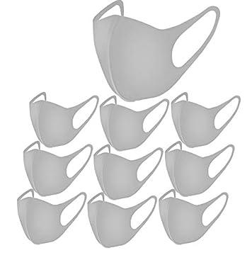 ユニセックスファッション通気性マスクマスクポリウレタン製 立体構 洗える3~8回繰り返し使える (グレー)