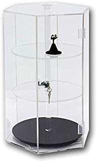 Clear Acrylic Rotating Collectible Display Case ~ 18.25