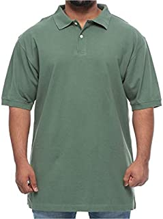 Harbor Bay Big and Tall Pique Polo Comfort Short Sleeve Shirt for Men