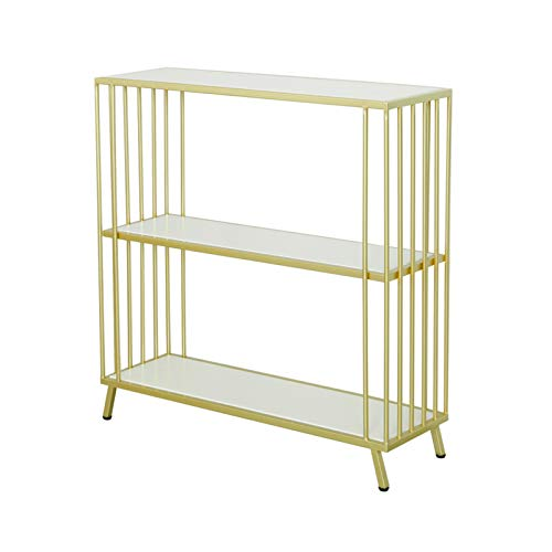 3 Layers Marble Entrance Cabinet, Living Room Entrance Console Table Wrought Iron Study Shelf Very Narrow Console Table(Size:60 * 25 * 80CM)