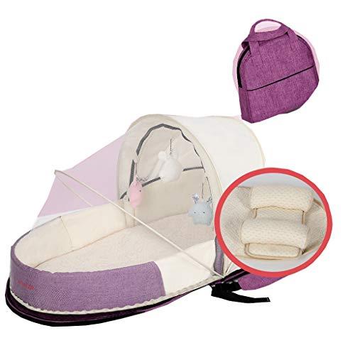 Multifonctionnel Lit Pliant Bebe Coton Maman Sac Sac À Dos Sommeil Pliable Portable ( Color : A )