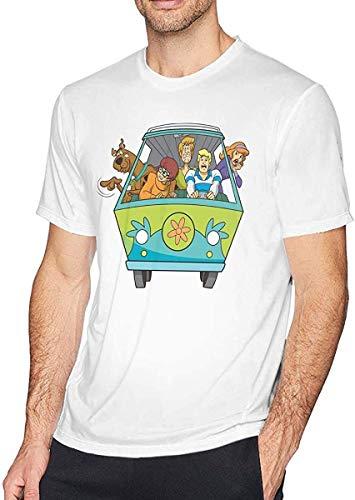 Tengyuntong T-Shirt Camisetas y Tops Polos y Camisas Scooby-Doo Mystery Machine Man'S Cotton
